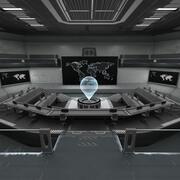 Futuristische controlekamer 3d model