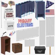 Raccolta delle elezioni degli Stati Uniti 3d model