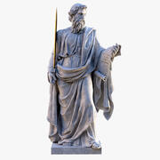 Saint Paul Vatican Statue 3d model
