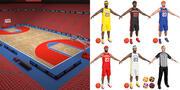 Pack de jeu de basket 3d model
