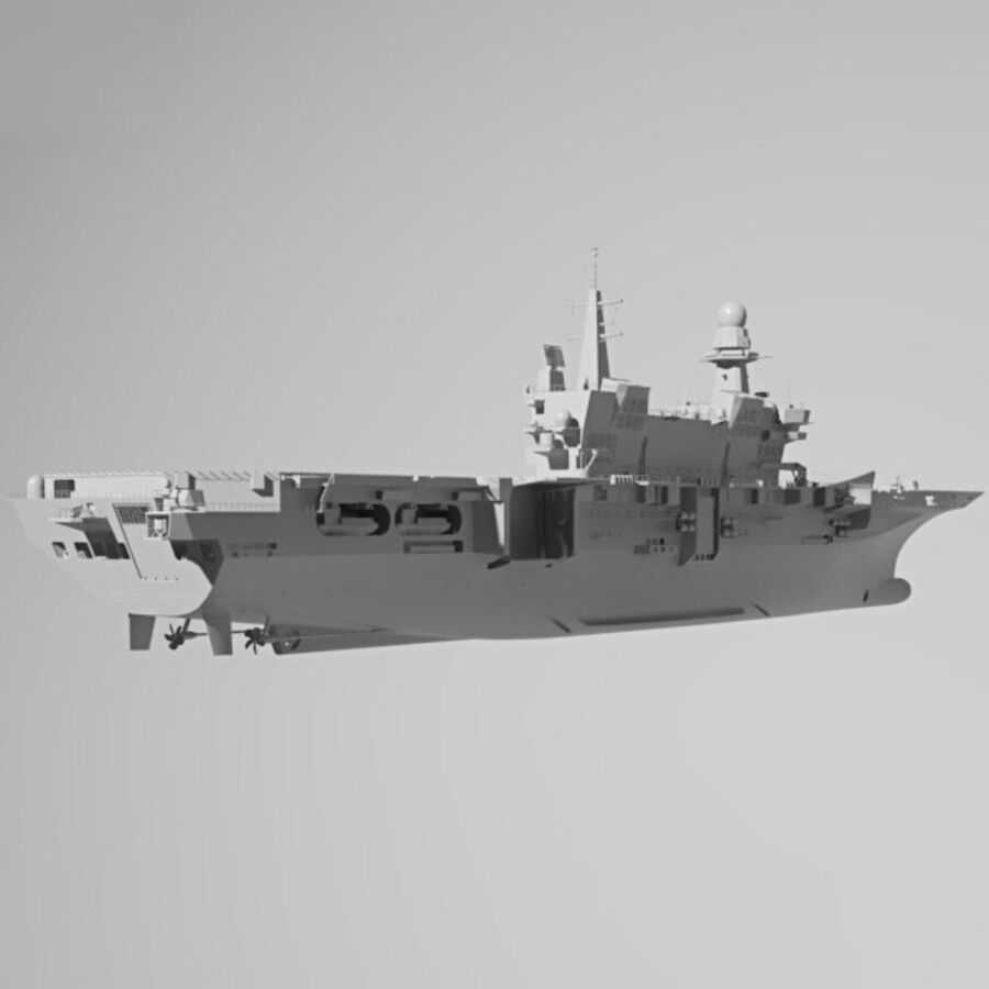 Cavour aircraft carrier royalty-free 3d model - Preview no. 12
