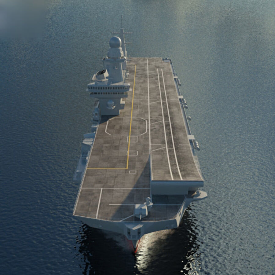 Cavour aircraft carrier royalty-free 3d model - Preview no. 10