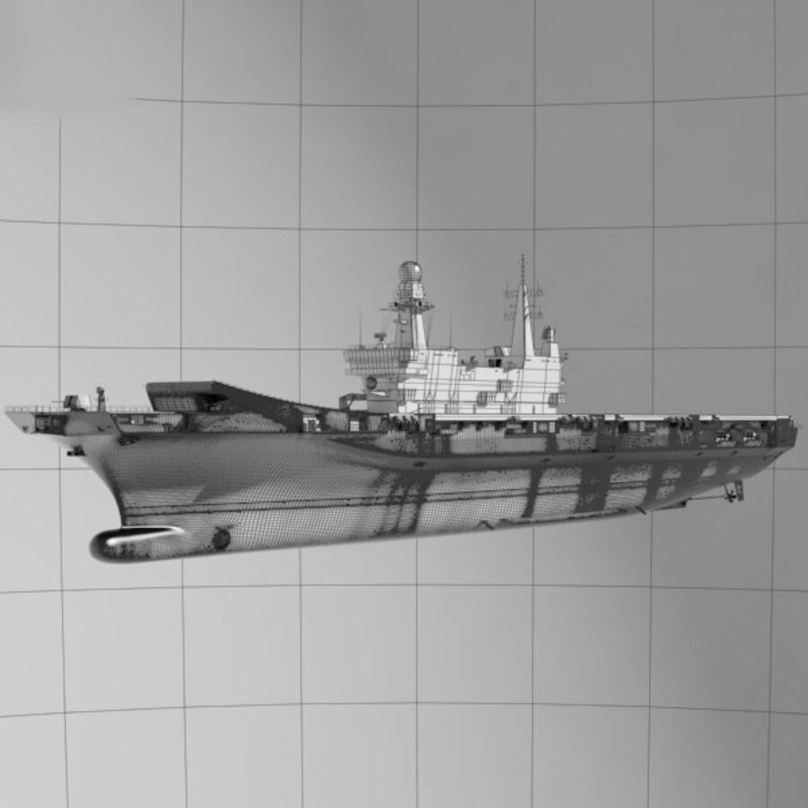 Cavour aircraft carrier royalty-free 3d model - Preview no. 3