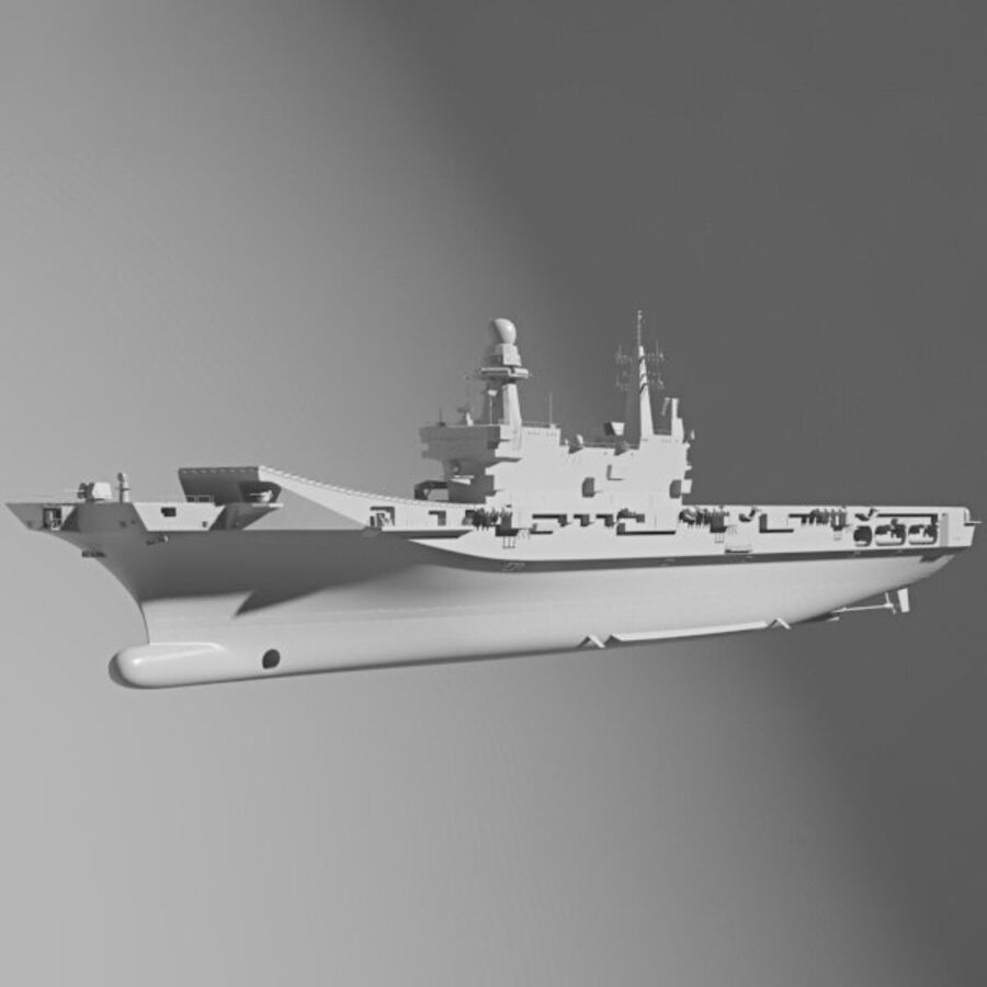 Cavour aircraft carrier royalty-free 3d model - Preview no. 11
