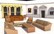 ovaal kantoor 3d model