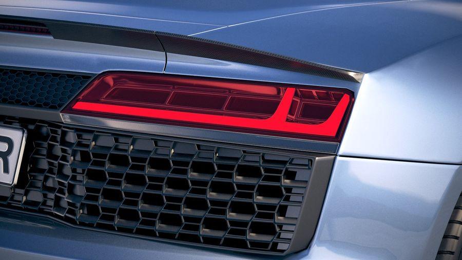 Audi R8 Spyder 2019 royalty-free 3d model - Preview no. 17