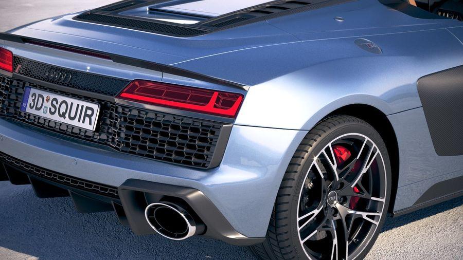 Audi R8 Spyder 2019 royalty-free 3d model - Preview no. 4
