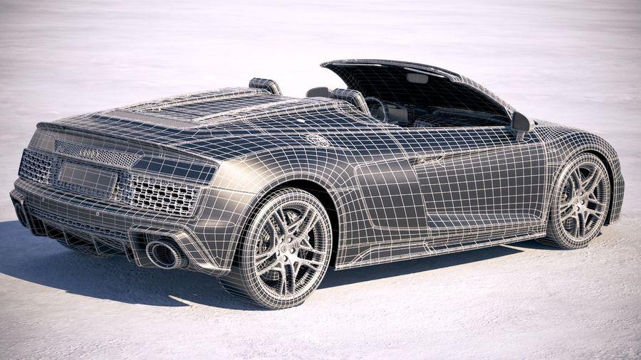Audi R8 Spyder 2019 royalty-free 3d model - Preview no. 24