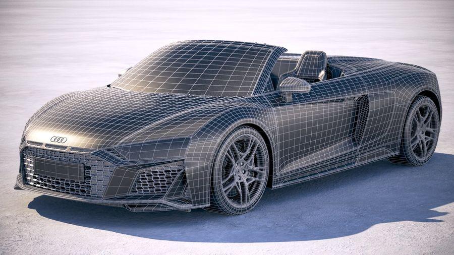 Audi R8 Spyder 2019 royalty-free 3d model - Preview no. 23