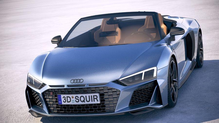 Audi R8 Spyder 2019 royalty-free 3d model - Preview no. 2