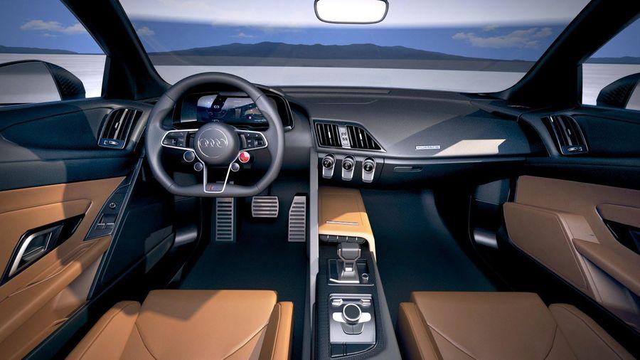 Audi R8 Spyder 2019 royalty-free 3d model - Preview no. 18