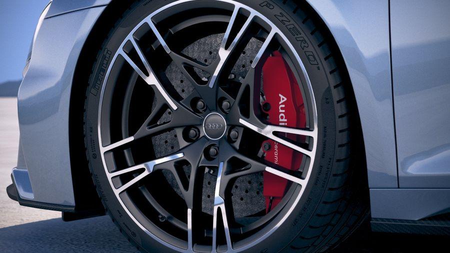Audi R8 Spyder 2019 royalty-free 3d model - Preview no. 15