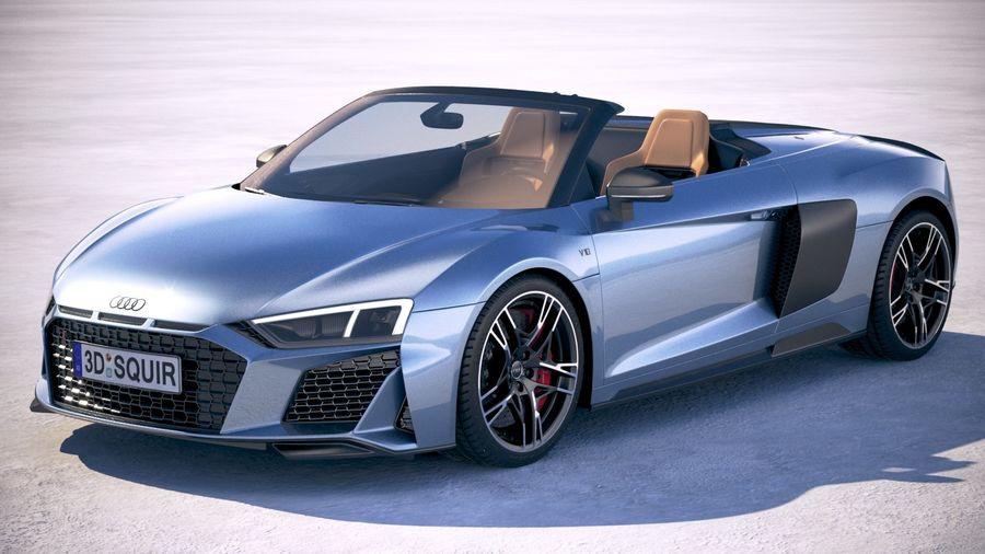 Audi R8 Spyder 2019 royalty-free 3d model - Preview no. 1