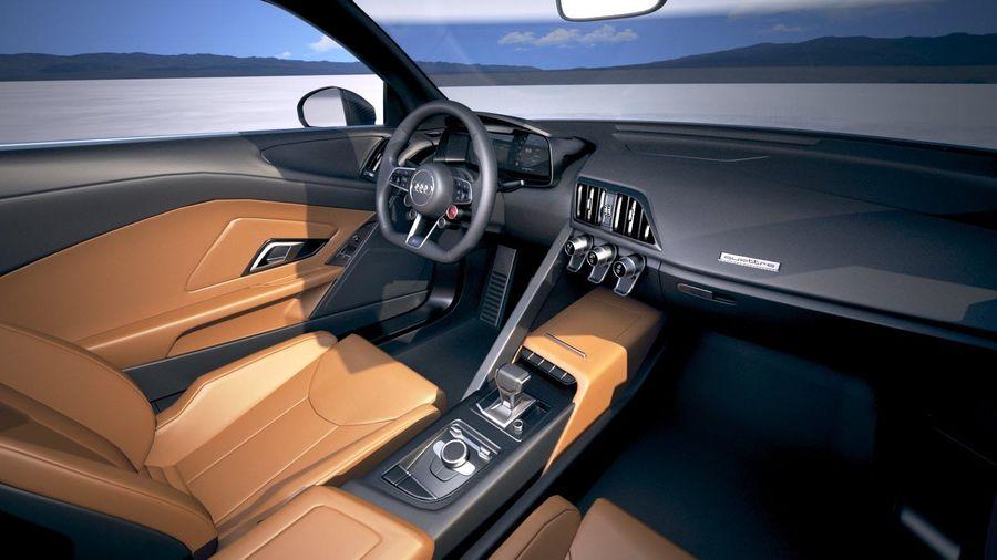 Audi R8 Spyder 2019 royalty-free 3d model - Preview no. 19