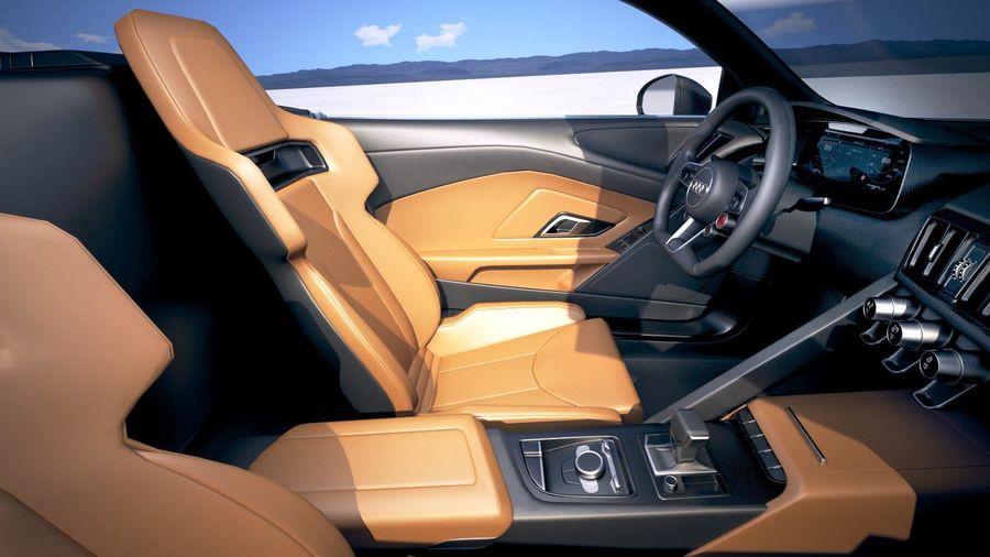Audi R8 Spyder 2019 royalty-free 3d model - Preview no. 20