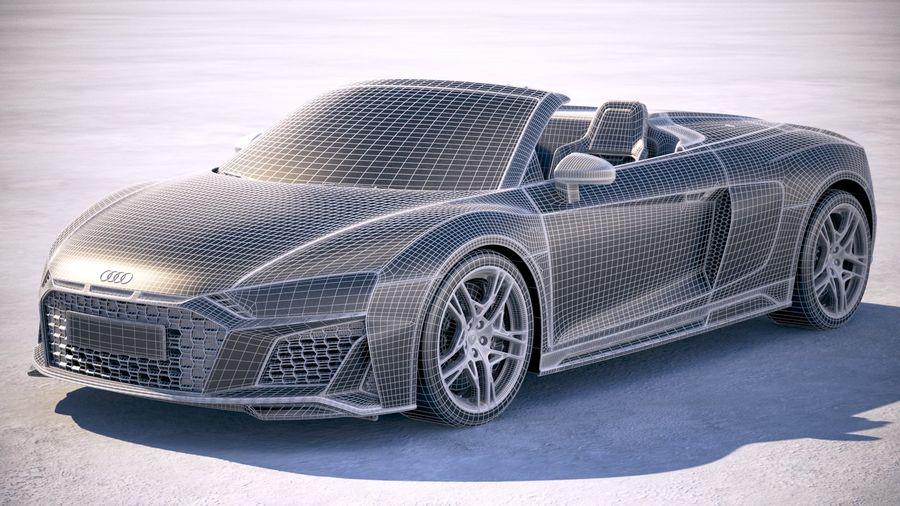 Audi R8 Spyder 2019 royalty-free 3d model - Preview no. 21