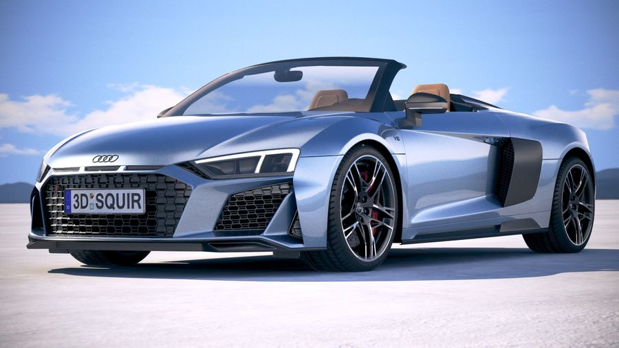 Audi R8 Spyder 2019 royalty-free 3d model - Preview no. 13