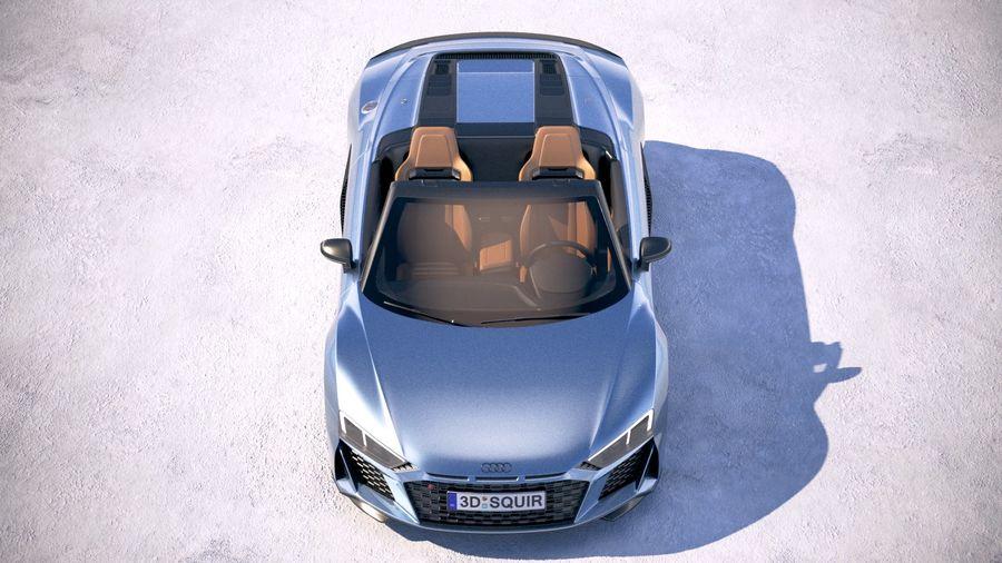 Audi R8 Spyder 2019 royalty-free 3d model - Preview no. 9