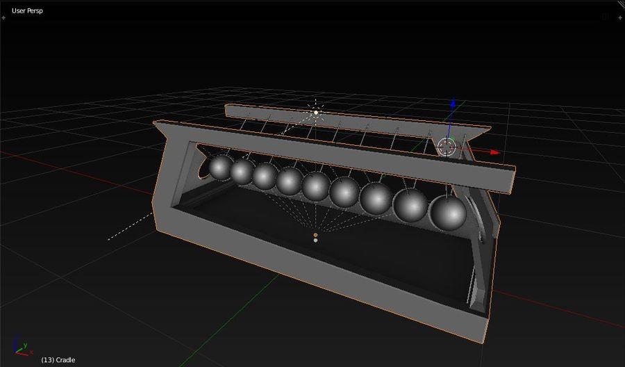 De wieg van Newton royalty-free 3d model - Preview no. 2