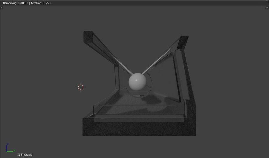 牛顿的摇篮 royalty-free 3d model - Preview no. 4