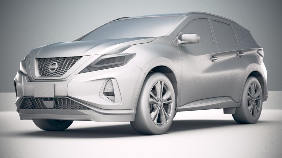 Nissan Murano 2019 royalty-free 3d model - Preview no. 23