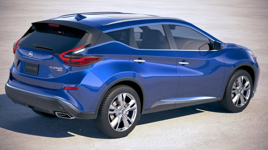 Nissan Murano 2019 royalty-free 3d model - Preview no. 5