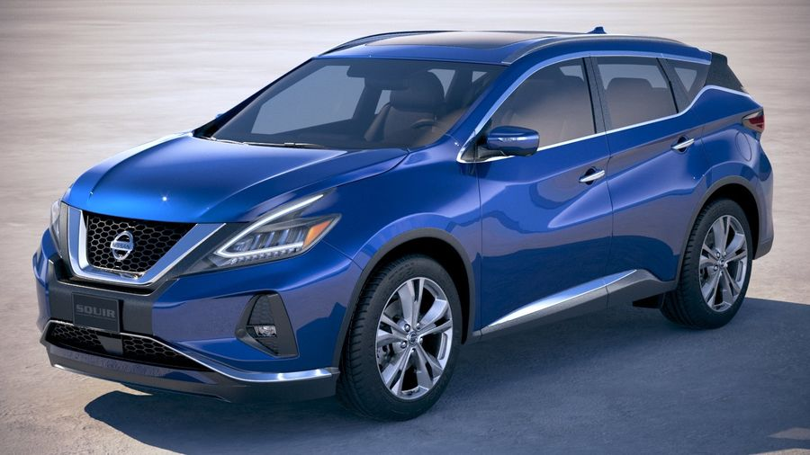 Nissan Murano 2019 royalty-free 3d model - Preview no. 1
