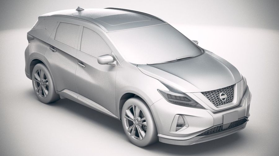Nissan Murano 2019 royalty-free 3d model - Preview no. 22