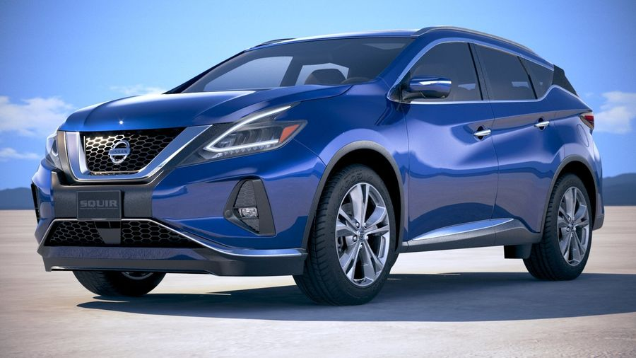 Nissan Murano 2019 royalty-free 3d model - Preview no. 13