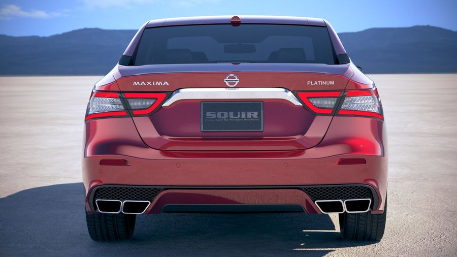 Nissan Maxima 2019 royalty-free 3d model - Preview no. 11