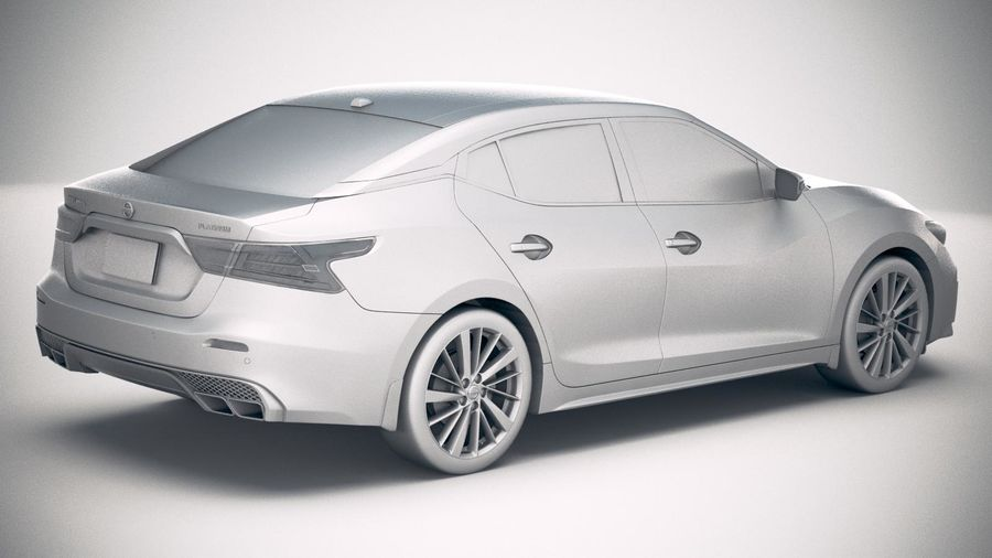 Nissan Maxima 2019 royalty-free 3d model - Preview no. 21