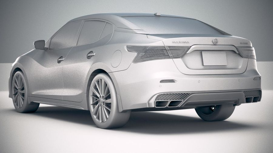 Nissan Maxima 2019 royalty-free 3d model - Preview no. 24