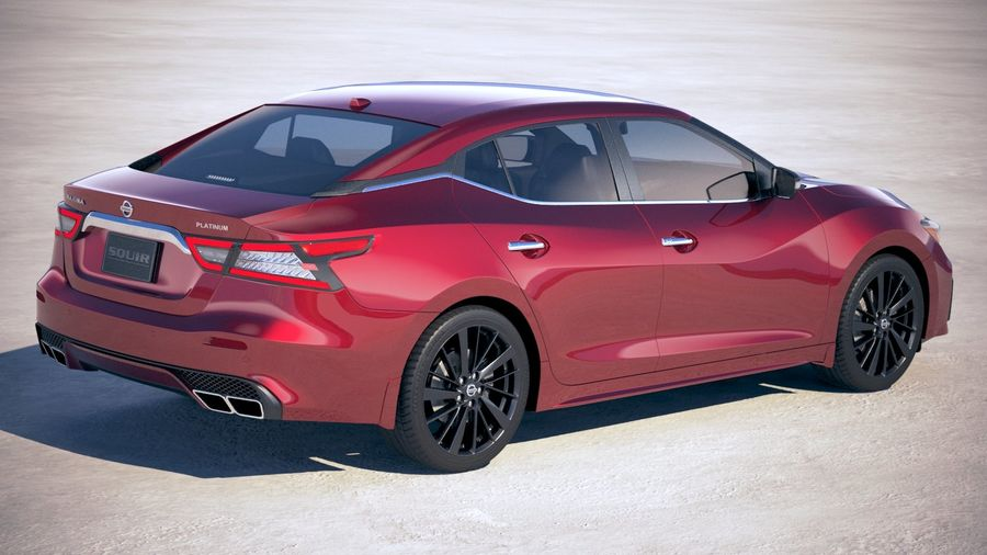 Nissan Maxima 2019 royalty-free 3d model - Preview no. 5