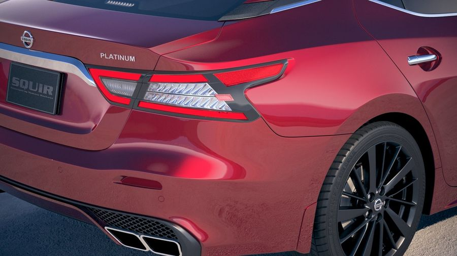 Nissan Maxima 2019 royalty-free 3d model - Preview no. 4