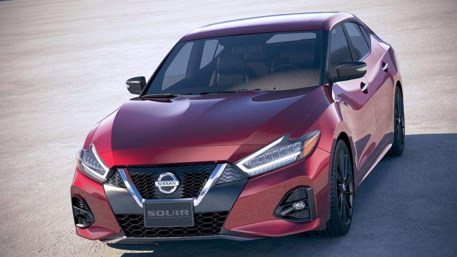 Nissan Maxima 2019 royalty-free 3d model - Preview no. 2