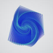 Galaxia en un cubo modelo 3d
