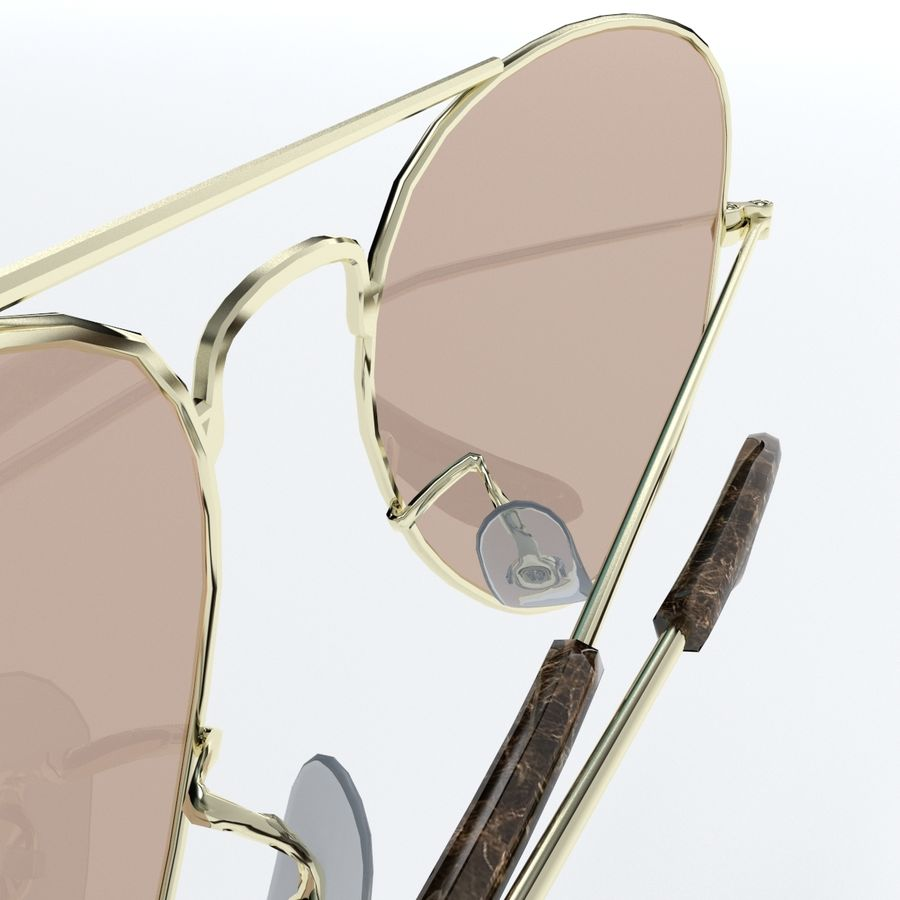 Glasses royalty-free 3d model - Preview no. 15