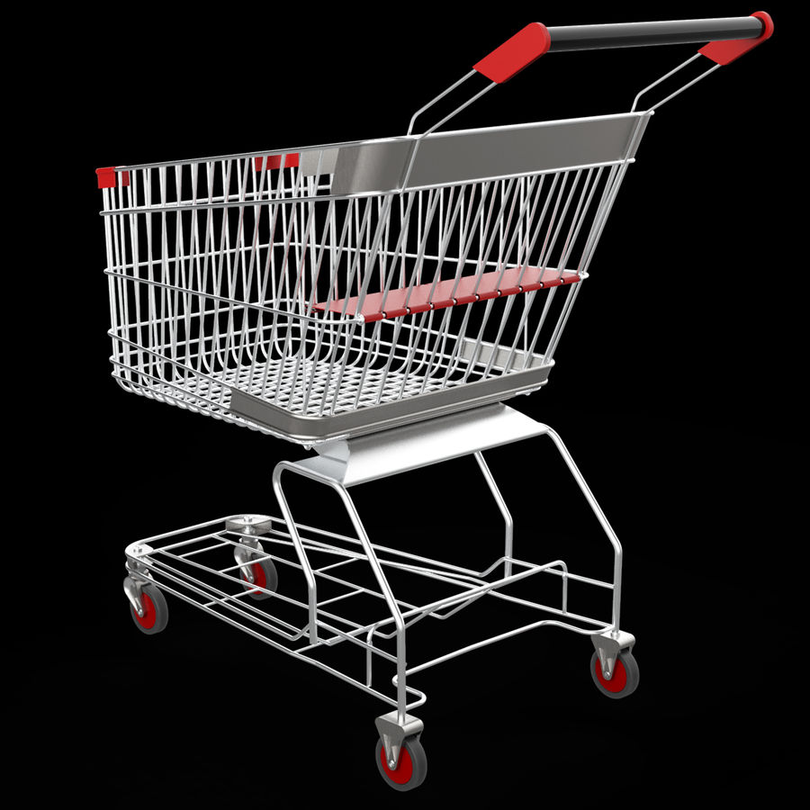 shopping_cart royalty-free 3d model - Preview no. 7
