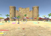 Accessoires de plage 3D 3d model