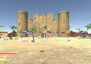 Rekwizyty 3D na plaży 3d model