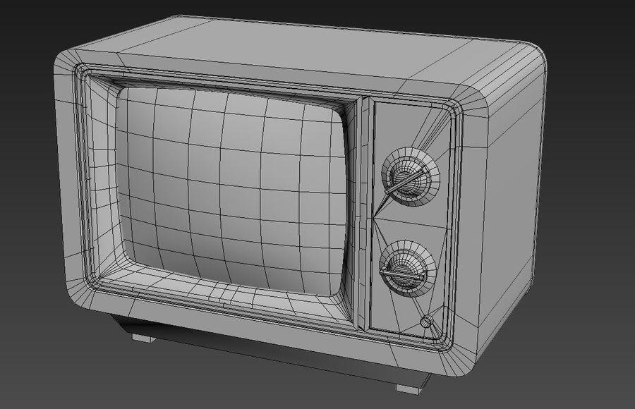 Retro TV royalty-free 3d model - Preview no. 6