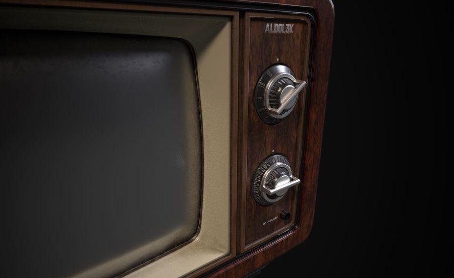Retro TV royalty-free 3d model - Preview no. 5