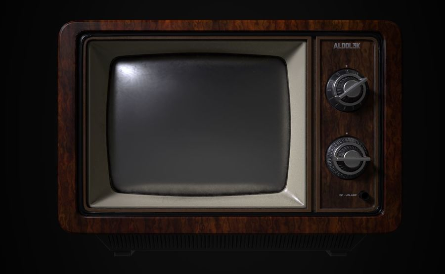 Retro TV royalty-free 3d model - Preview no. 1