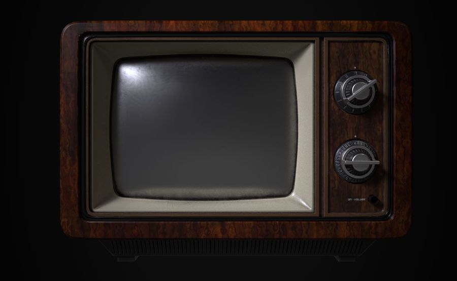 Retro TV royalty-free 3d model - Preview no. 2