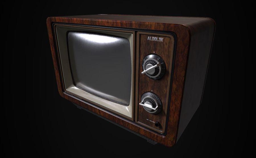 Retro TV royalty-free 3d model - Preview no. 3