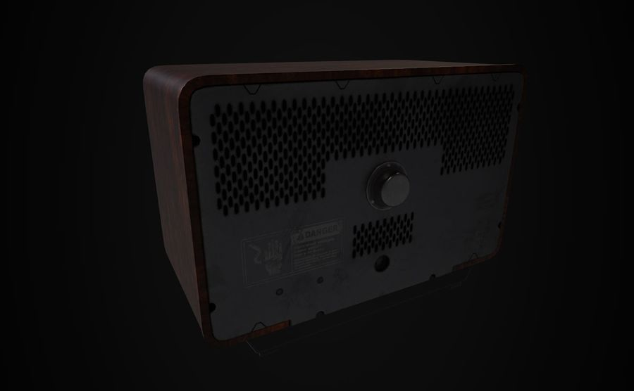 Ретро ТВ royalty-free 3d model - Preview no. 4