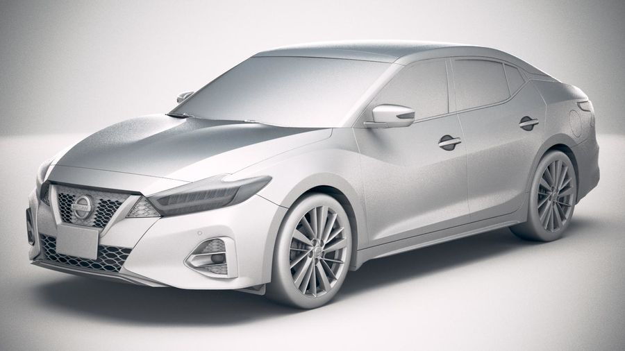 Nissan Maxima 2019 royalty-free 3d model - Preview no. 18