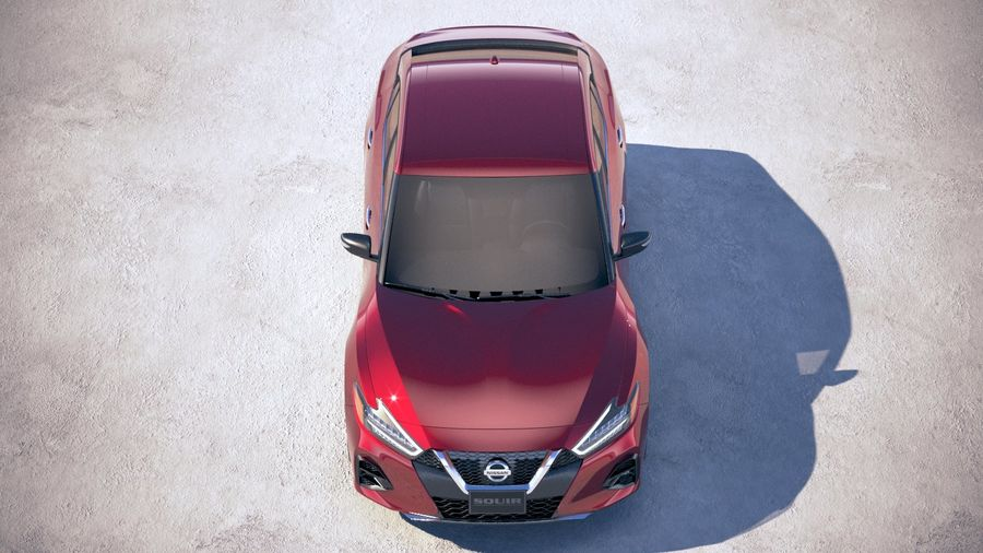 Nissan Maxima 2019 royalty-free 3d model - Preview no. 9