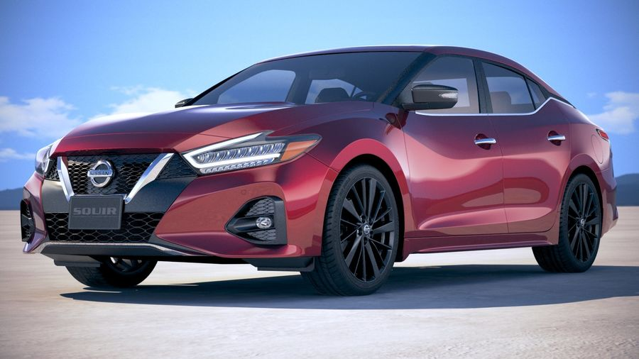 Nissan Maxima 2019 royalty-free 3d model - Preview no. 13