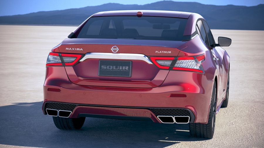 Nissan Maxima 2019 royalty-free 3d model - Preview no. 6